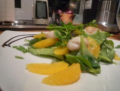 Salade noix de st jacques agrumes 003